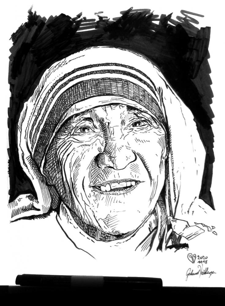 Mother Teresa by veitsberger